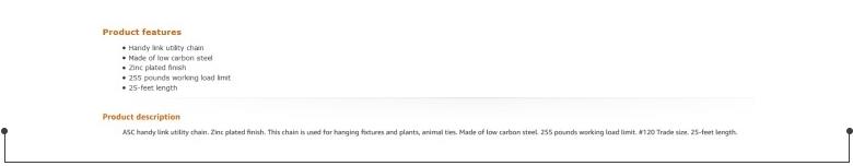 亚马逊产品描述