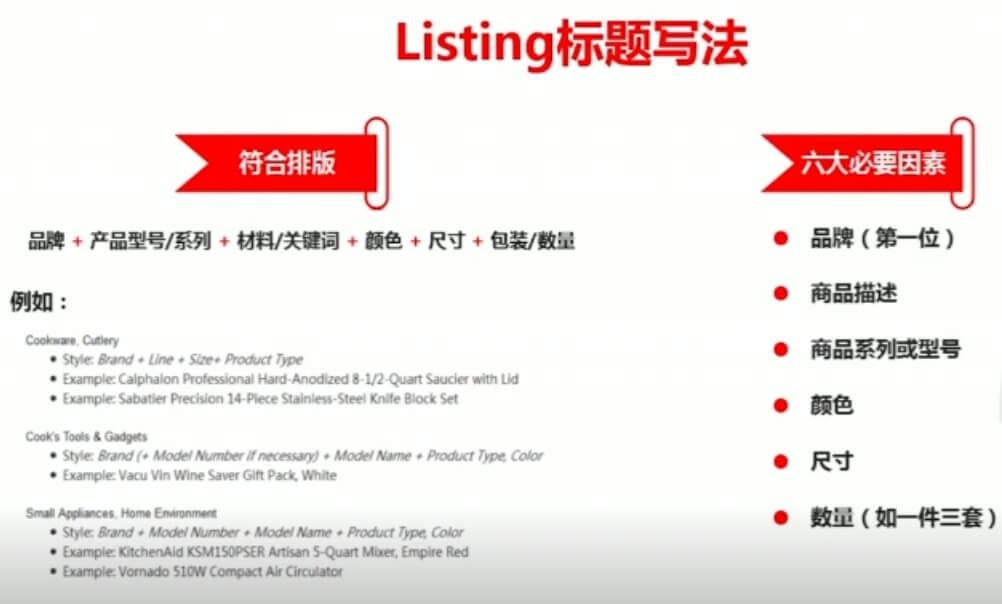 亚马逊listing优化